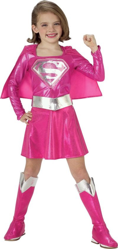 Party City Halloween Costumes Baby  Toddler Girls Pink Supergirl Costume Party City