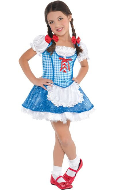 Party City Halloween Costumes Baby  Toddler Girls Dorothy Costume The Wizard of Oz