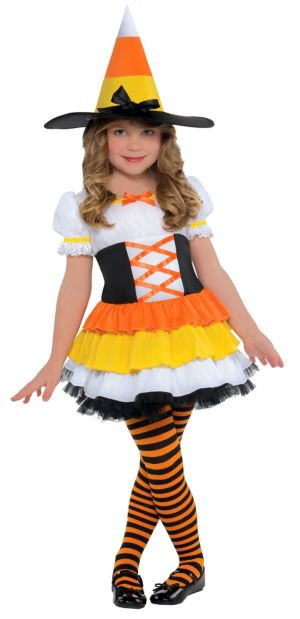 Party City Halloween Costumes Baby  Toddler Girls Trick or Treat Witch Costume Party City