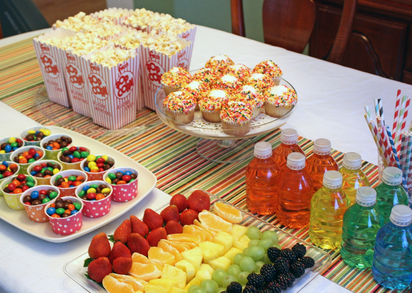 Party Food Ideas For Kids  Dreaming In Scraps Muppets rainbows and 10 crazy girls