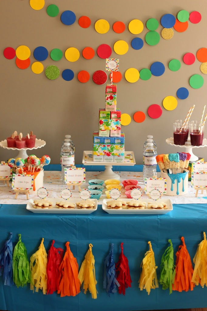Party Theme Ideas For Kids  Incredible Art and Paint Party Ideas Kids Will Go Crazy For