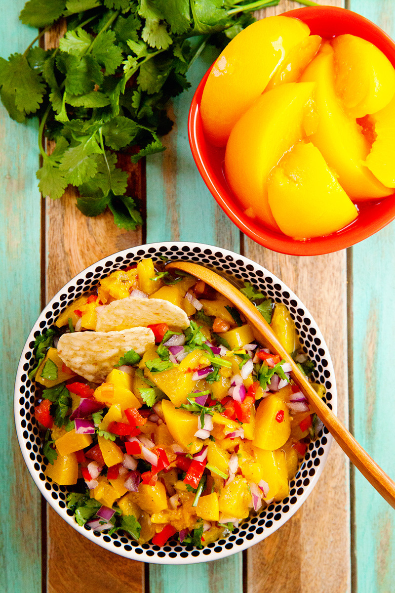 Peach Salsa Recipe For Canning  Food Bloggers of Canada Quick and Easy Peach Salsa