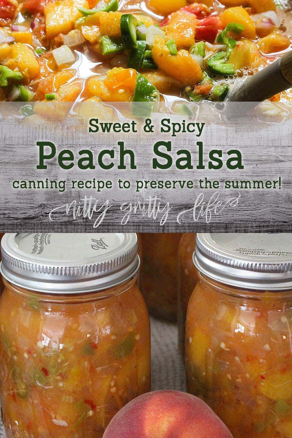 Peach Salsa Recipe For Canning  Sweet & Spicy Peach Salsa Canning Recipe