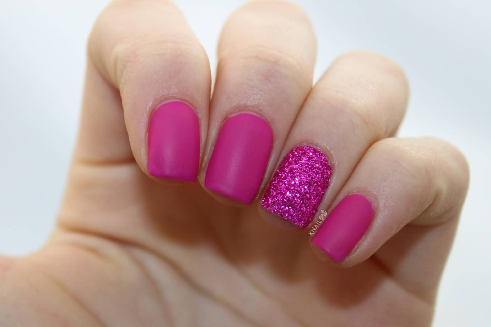 Pink And Glitter Nail Designs  65 Incredible Glitter Accent Nail Art Ideas You Need To