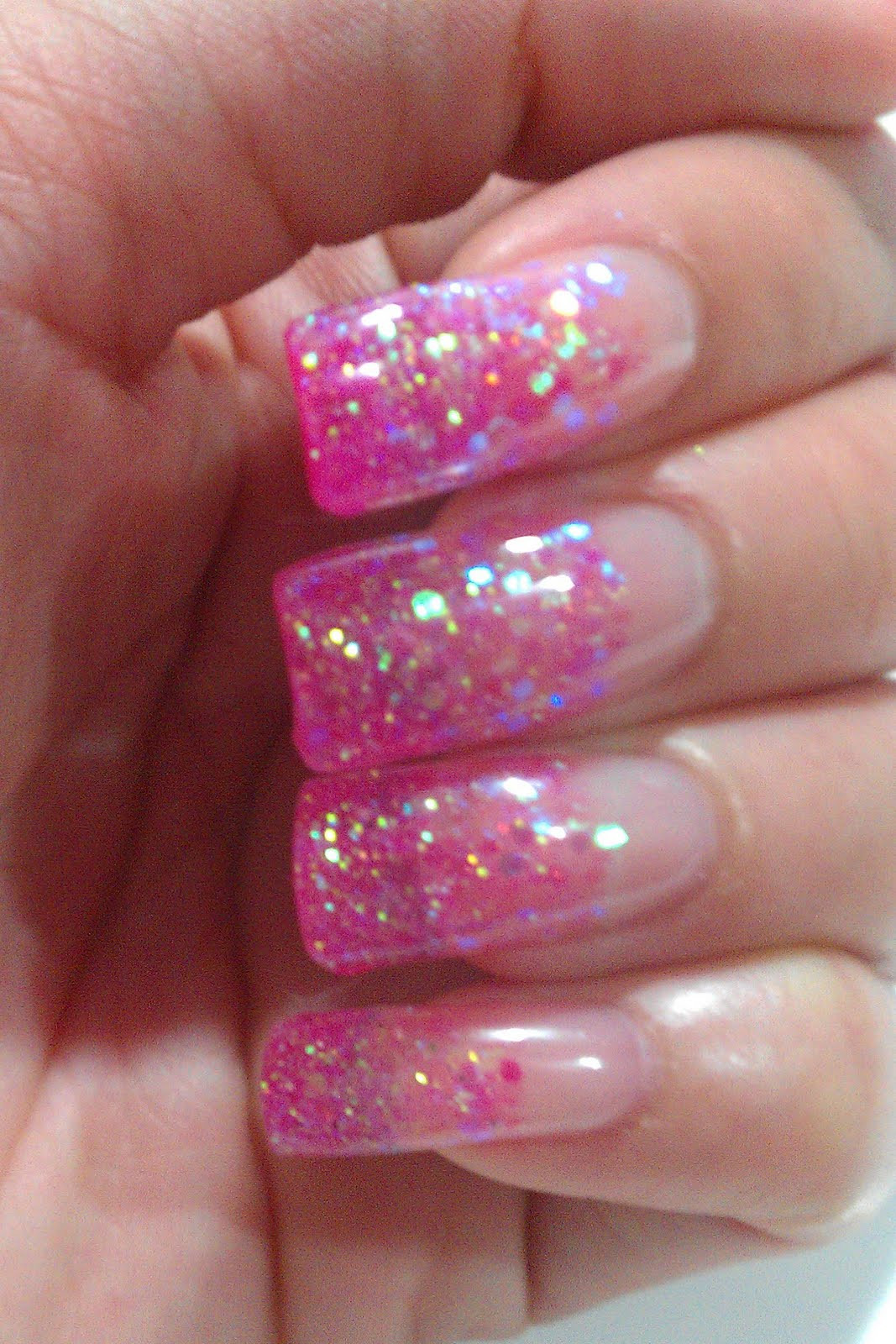 Pink And Glitter Nail Designs  The Clover Beauty Inn NOTD Pink Glitter Gel Nails