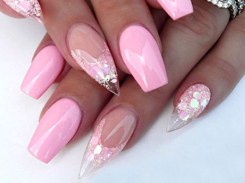 Pink And Glitter Nail Designs  27 Pink Nails Ideas Everyone Should Own