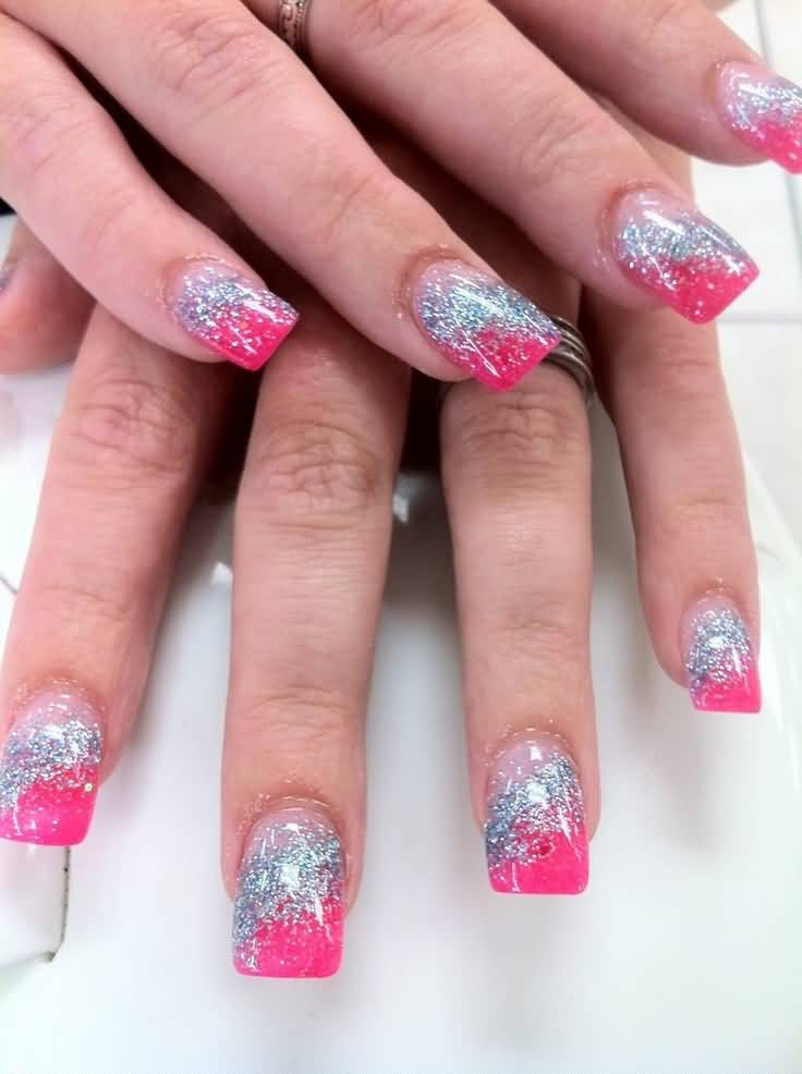 Pink And Glitter Nail Designs  60 Best Pink Acrylic Nail Art Designs