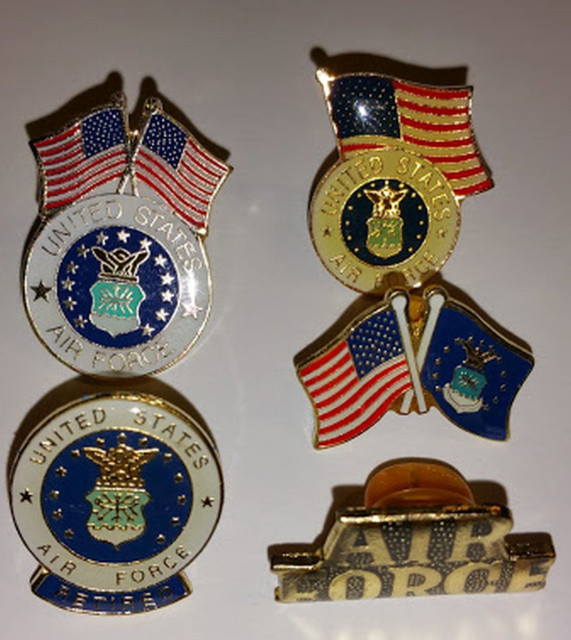 Pins And Patches  5 Different Air Force Hat Lapel Pins