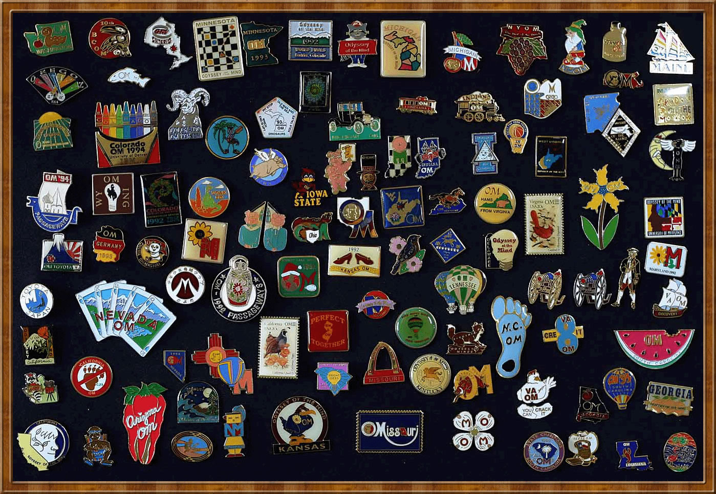 Pins Collection  Richard Boitnott s Odyssey of the Mind Pin Collection