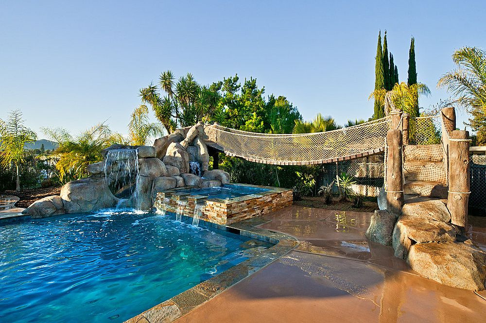 Pool Images Backyard  25 Fascinating Pool Bridge Ideas That Leave You Enthralled