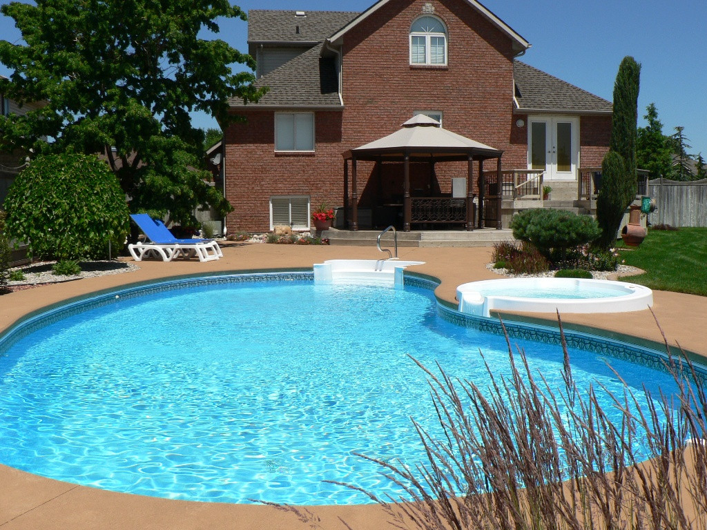Pool Images Backyard  Appealing Backyard Pool Designs for Contemporary