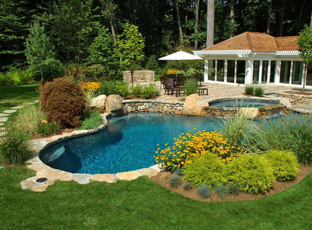 Pool Images Backyard  27 Pool Landscaping Ideas Create the Perfect Backyard