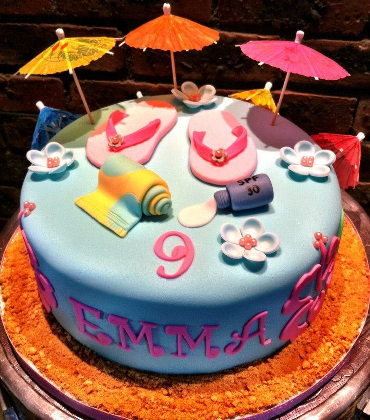 Pool Party Cake Ideas For Birthdays  26 best images about cakes pool party on Pinterest