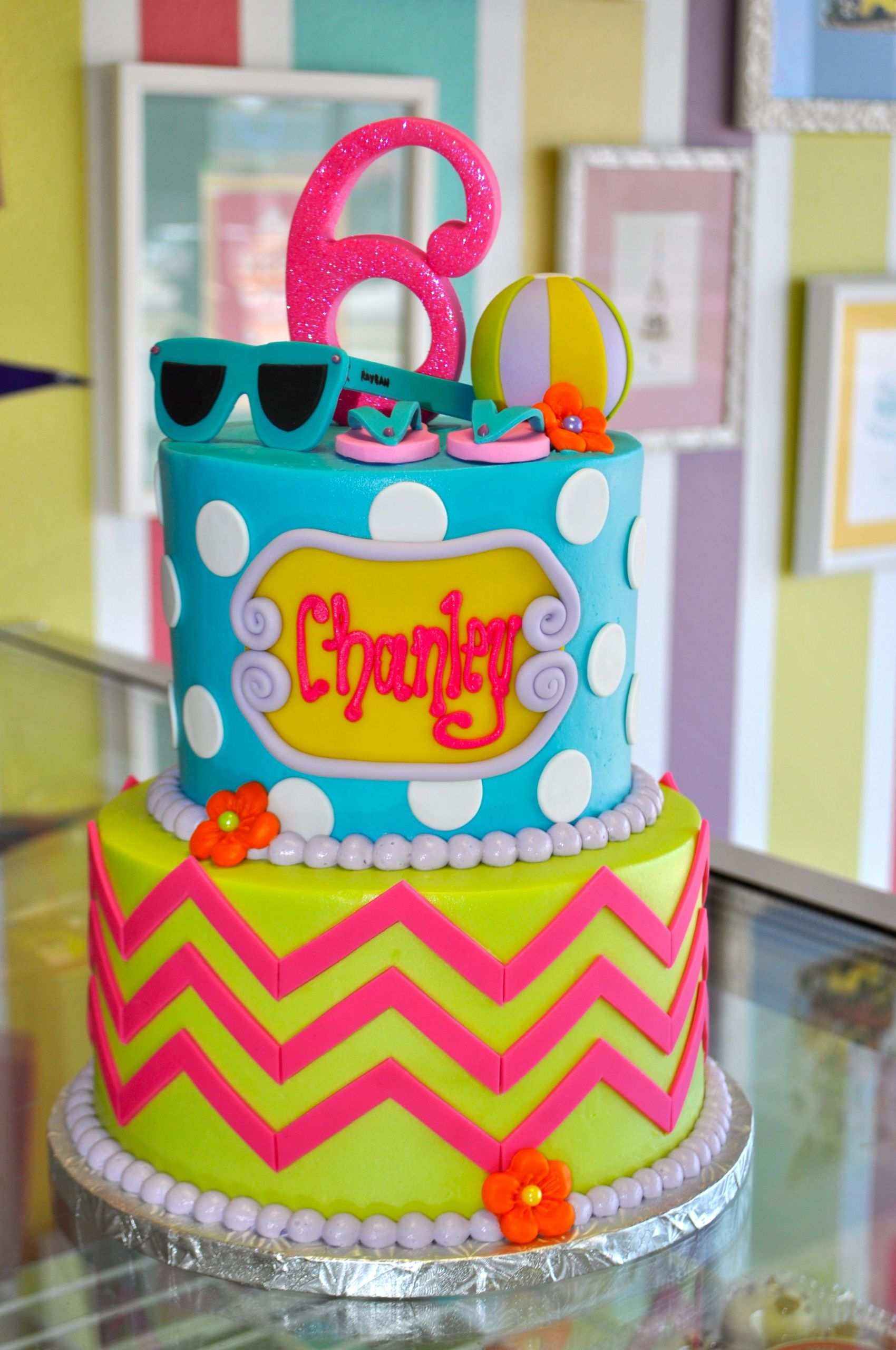 Pool Party Cake Ideas For Birthdays  Pin by Roxi Simpson on For my little princess