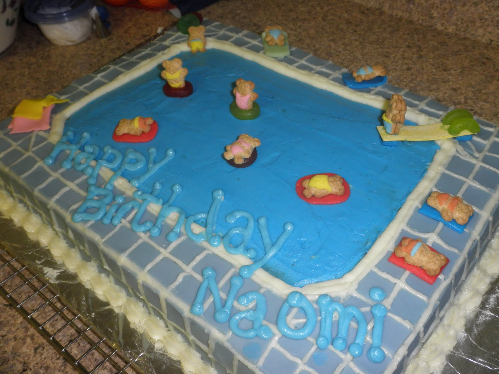 Pool Party Cake Ideas For Birthdays  Cakes By D Pool Party Birthday Cake