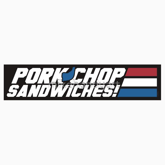 "Pork Chop Sandwiches G.I.Joe  ""Pork Chop Sandwiches STICKER "" Stickers by mikehandyart"