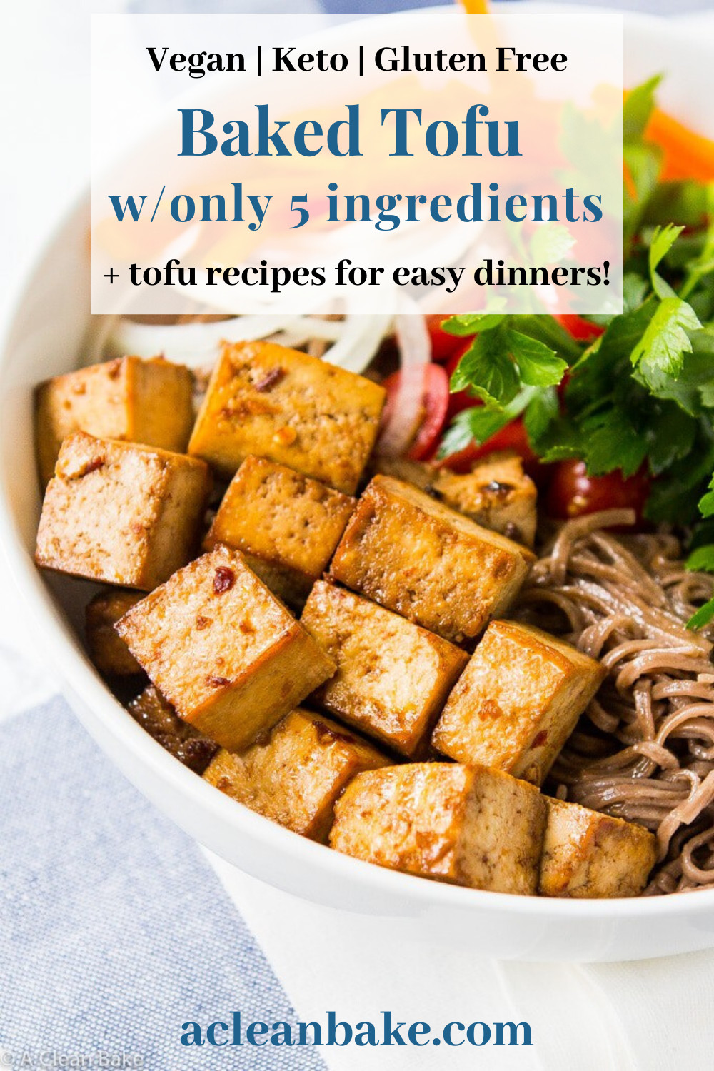 Quick Easy Tofu Recipes  Quick and Easy 5 Ingre nt Baked Tofu in 2020