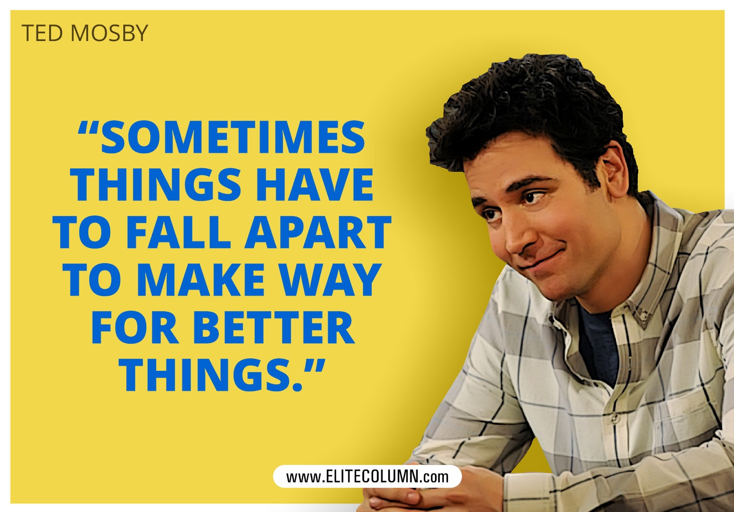 Quote From How I Met Your Mother  12 Best e Liners From How I Met Your Mother