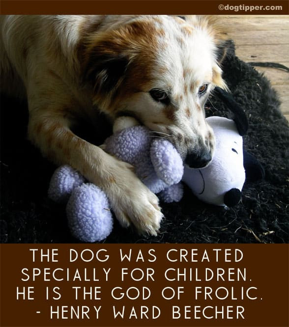 Quotes About Dogs And Kids  Famous Dog Quotes
