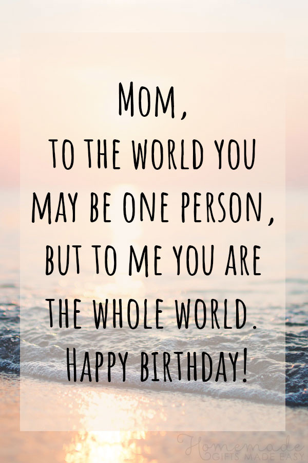 Quotes For Mothers Birthdays  100 Best Happy Birthday Mom Wishes Quotes & Messages