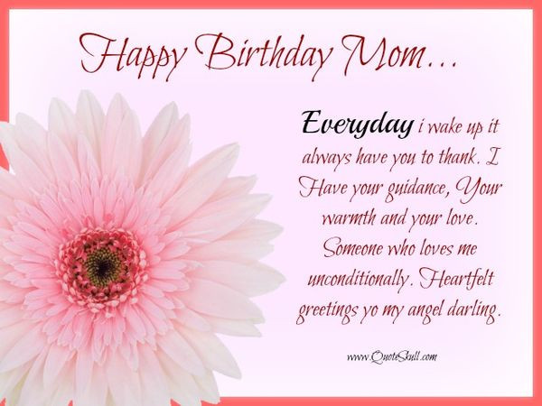 Quotes For Mothers Birthdays  Happy Birthday Mom Best Bday Wishes and for Mother