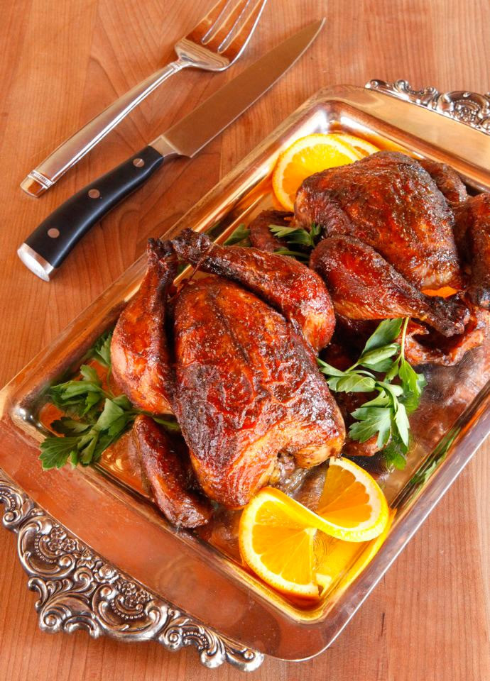 Recipe For Cornish Game Hens  Marinated Cornish Game Hens with Citrus and Spice Recipe