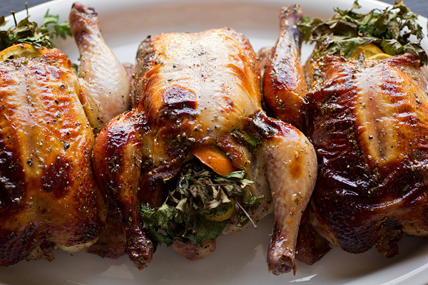 Recipe For Cornish Game Hens  Citrus and Herb Stuffed Cornish Game Hens with Orange