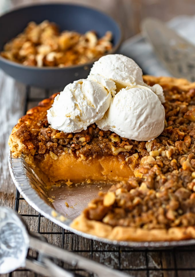 Recipe Sweet Potato Pie  Homemade Sweet Potato Pie Recipe with Walnut Topping VIDEO