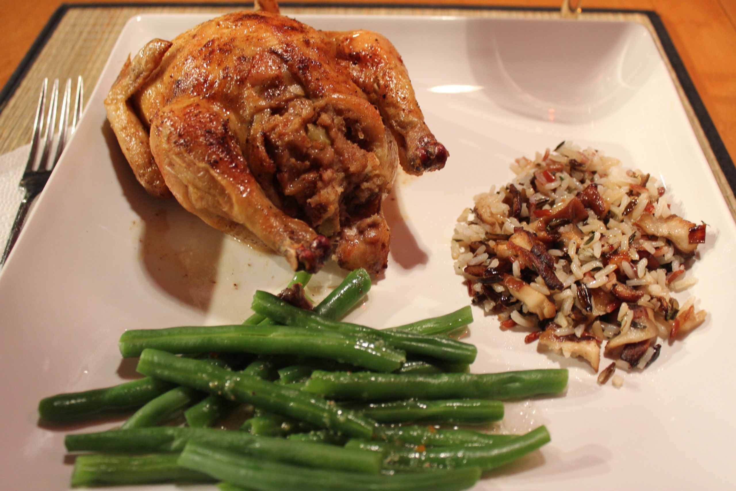 Recipes For Cornish Game Hens  Cornish Game Hens Stuffed Two Ways Part Two Apple Walnut