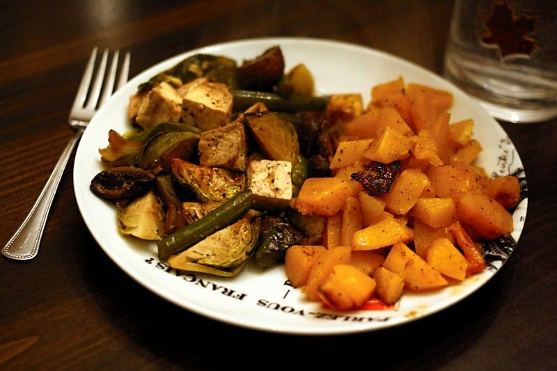 Roasted Tofu And Vegetables  Roasted Tofu with Ve ables