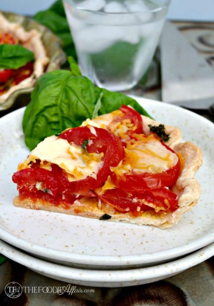 Salvatore'S Tomato Pies  Tomato Pie made with pre made crust two cheeses and fresh