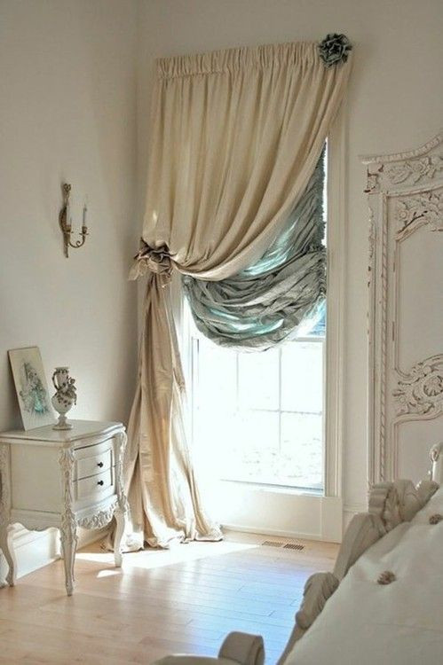 Shabby Chic Bedroom Curtains  lovely window treatments