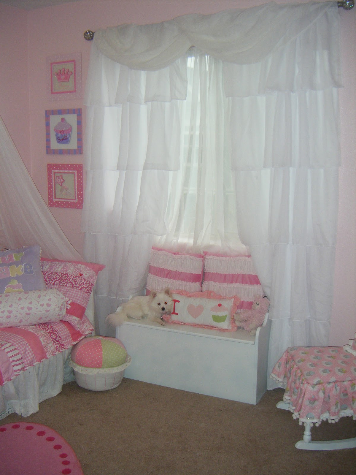 Shabby Chic Bedroom Curtains  Not So Shabby Shabby Chic Curtain s for Bella s room