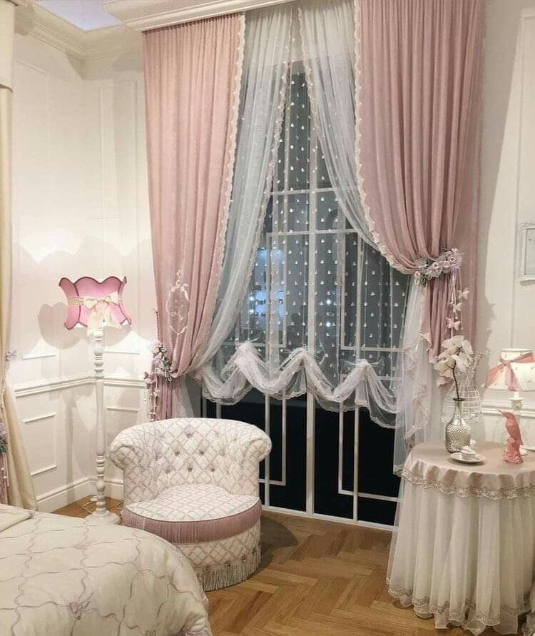Shabby Chic Bedroom Curtains  Luv the curtains Maison in 2019