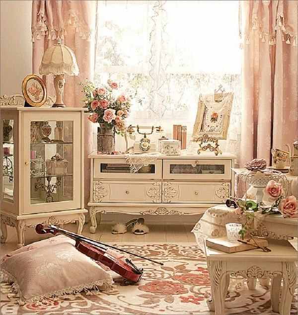 Shabby Chic Bedroom Curtains  Shabby chic curtains –elegance and romantic atmosphere in