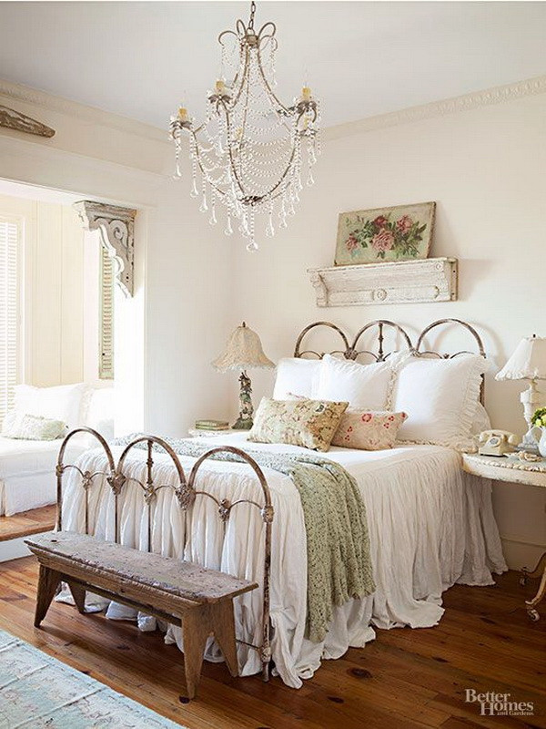 Shabby Chic Bedroom Furniture  30 Cool Shabby Chic Bedroom Decorating Ideas For