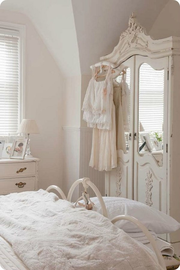Shabby Chic Bedroom Furniture  Wardrobe armoire – 25 shabby chic ideas for a romantic bedroom