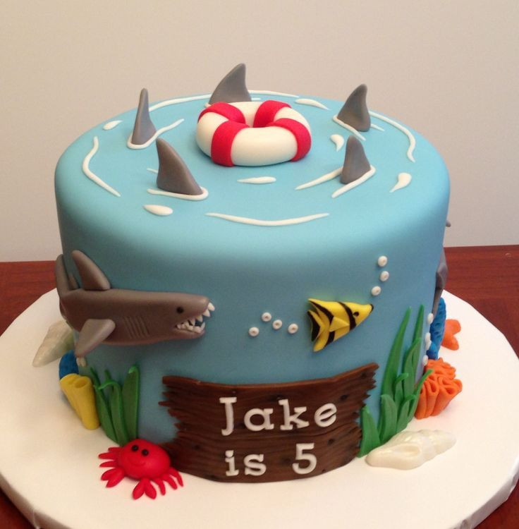 Shark Birthday Cakes  Pint Size Blogger Shark Party Ideas by Rylan The PIY Life