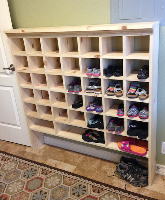 Shoes Organizer DIY  Reader Spotlight Kristi s DIY Shoe Cubby Sincerely