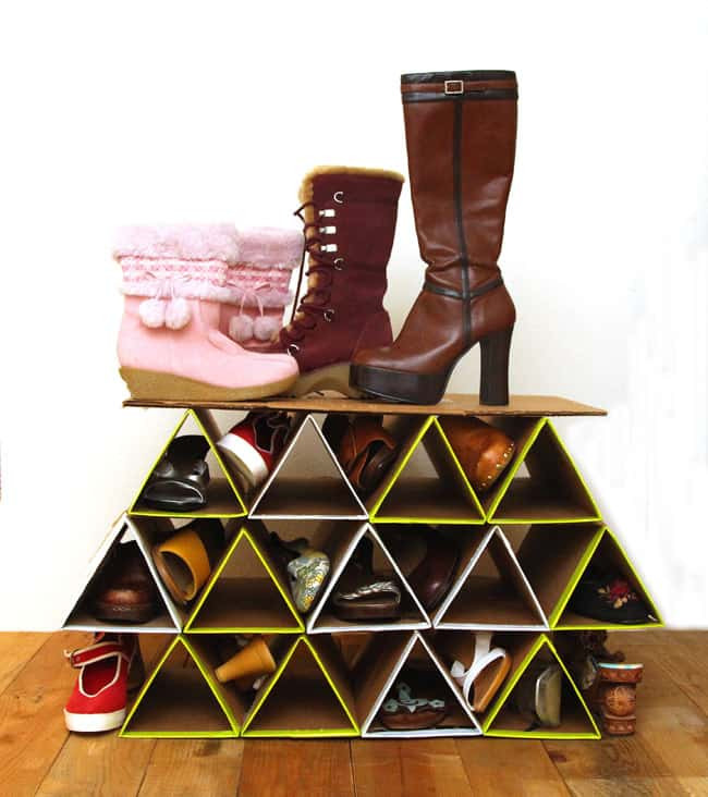 Shoes Organizer DIY  Super Space Saving DIY Shoe Rack for $0 A Piece
