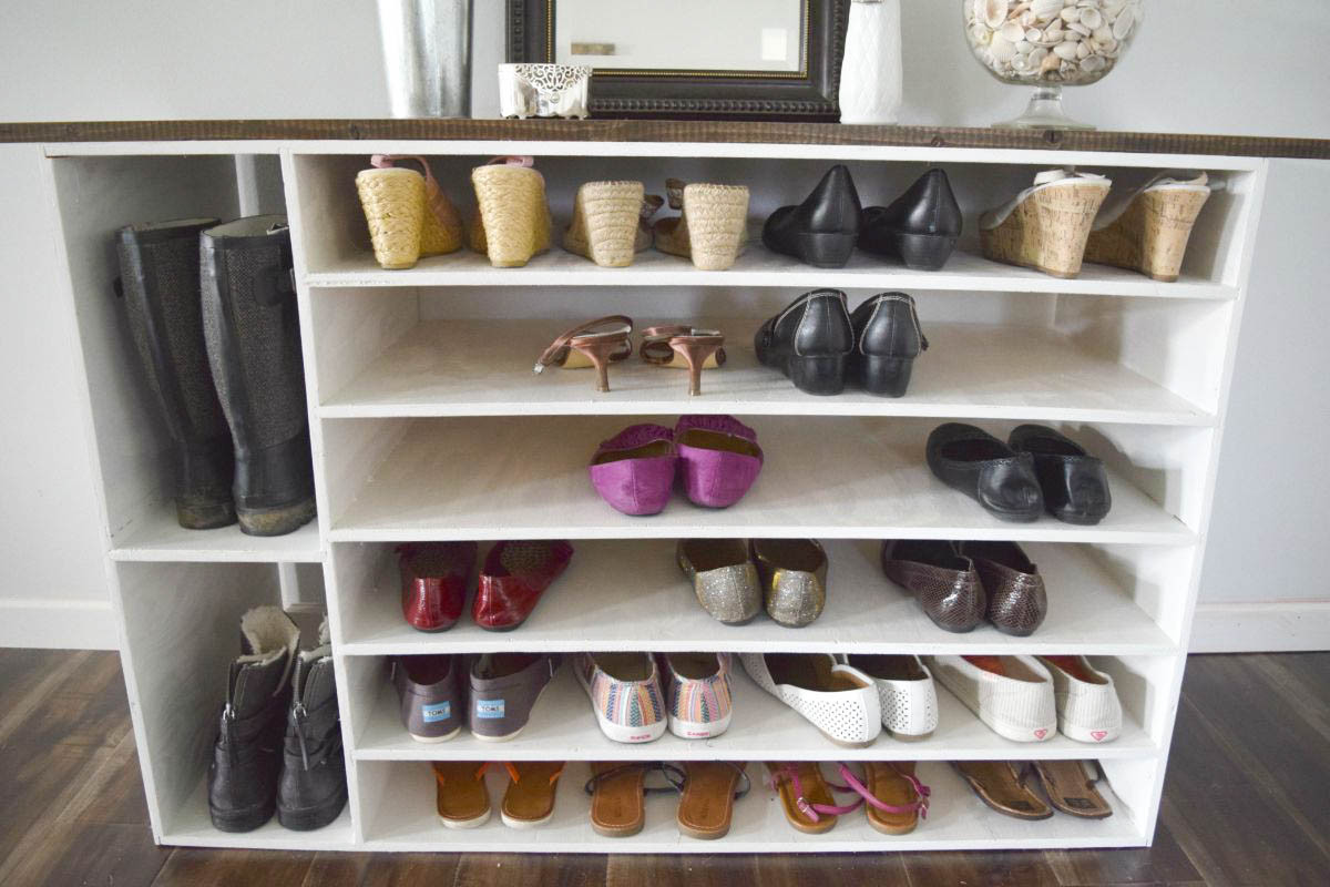 Shoes Organizer DIY  23 Smart DIY Shoe Rack Ideas – Top Reveal