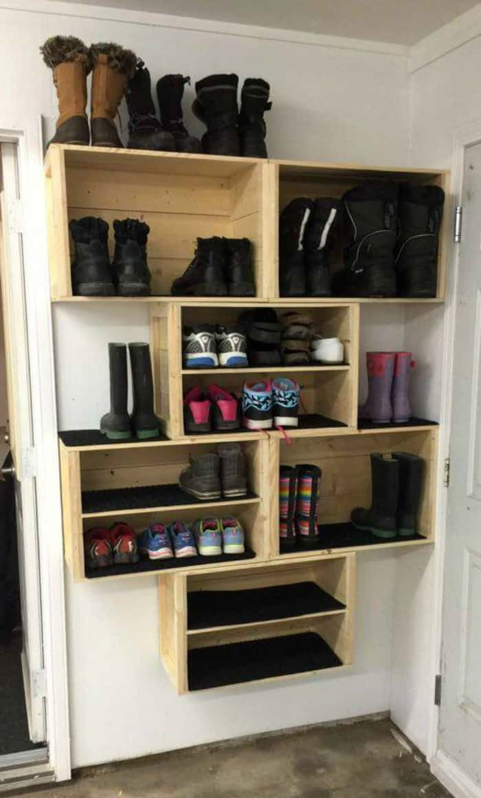 Shoes Organizer DIY  20 DIY SHOE STORAGE IDEAS