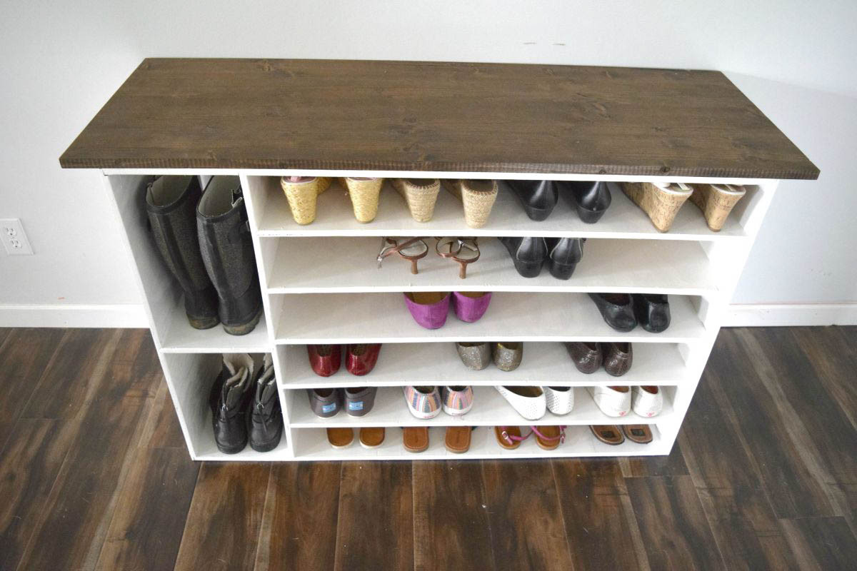Shoes Organizer DIY  How to make a DIY shoe organizer and rack for the closet