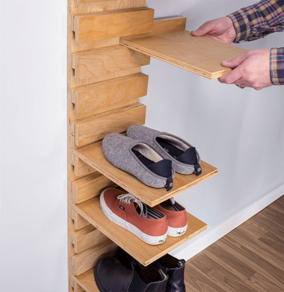 Shoes Organizer DIY  27 Cool & Clever Shoe Storage for Small Spaces Simple