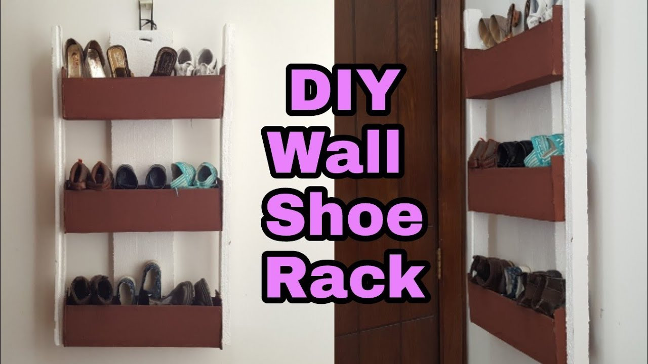 Shoes Organizer DIY  DIY How to Cardboard Shoe Rack Cardboard Shoe