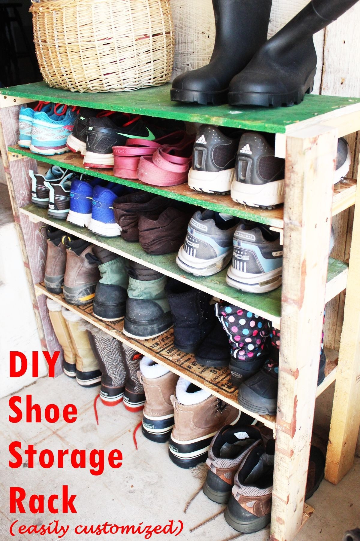 Shoes Organizer DIY  DIY Shoe Storage Shelves for Garage An Easy Fast and