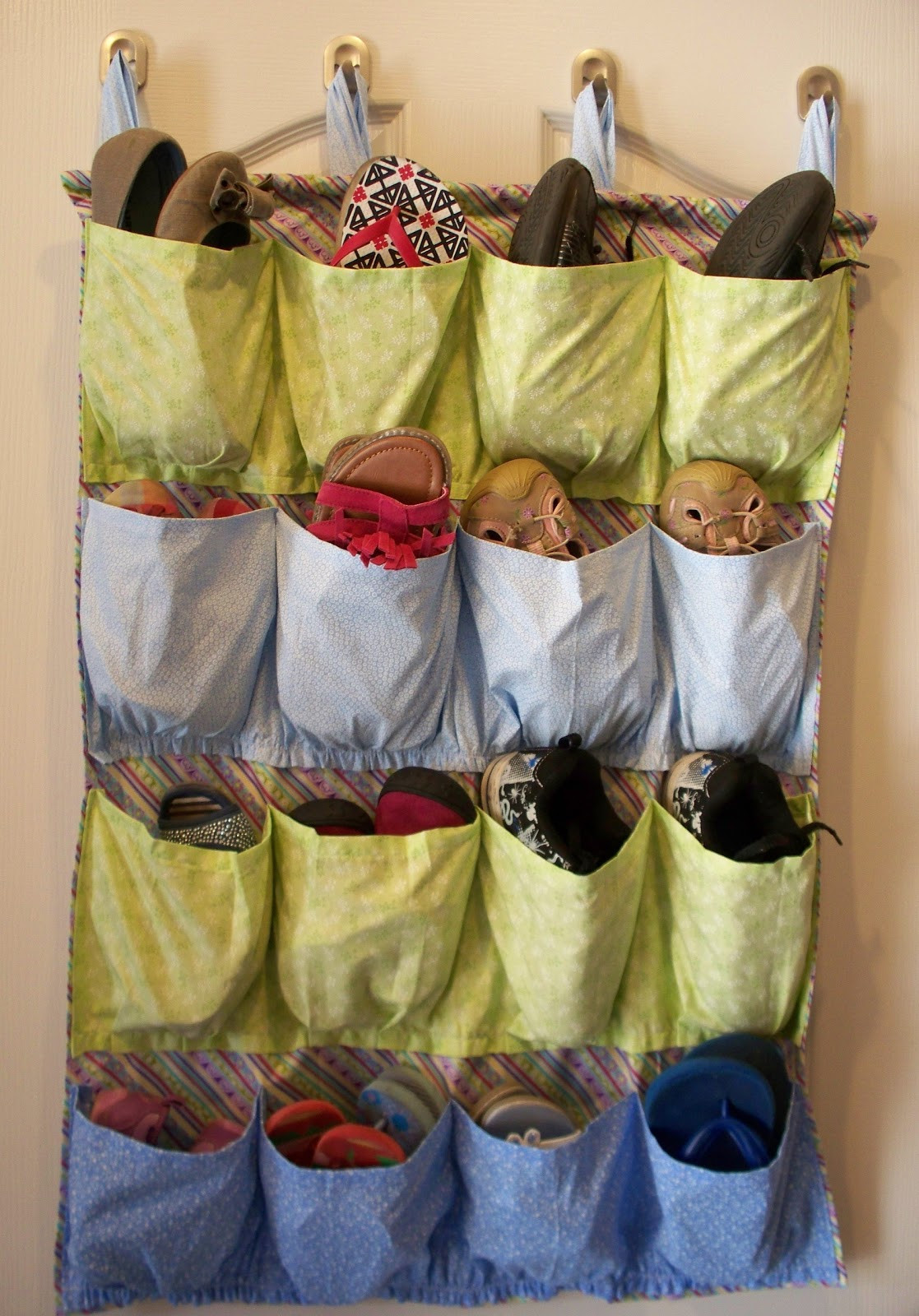 Shoes Organizer DIY  Sew It Yourself Shoe Organizer Adventures of a DIY Mom