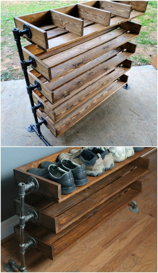 Shoes Organizer DIY  20 Outrageously Simple DIY Shoe Racks And Organizers You