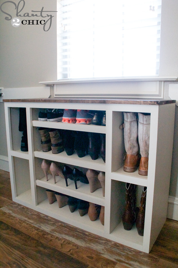Shoes Organizer DIY  DIY Shoe Storage Cabinet Shanty 2 Chic