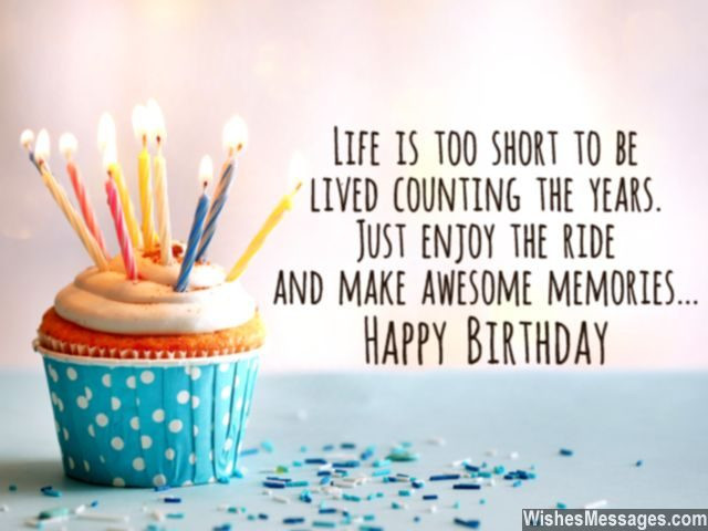 Short Birthday Quote  30th Birthday Wishes Quotes and Messages – WishesMessages